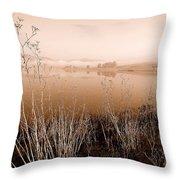 Mendocino Morning Throw Pillow