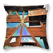 Mendocino Water Tower Throw Pillow