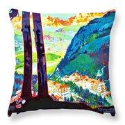 Mendola, Italy, Landscape Throw Pillow