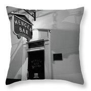 Menger Bar Throw Pillow