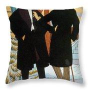 Mens Fashion, 1919 Throw Pillow