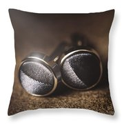 Mens Formalwear Cufflinks Throw Pillow