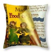 Menu From A Medieval Restaurant Throw Pillow