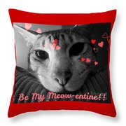 Meow-entine Throw Pillow