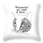 Meowmories Throw Pillow