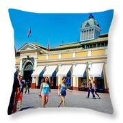 Mercado Centra In Santiago-chile Throw Pillow