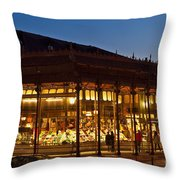 Mercado De San Miguel Throw Pillow