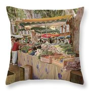 Mercato Provenzale Throw Pillow by Guido Borelli