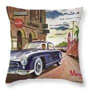 Mercedes 300 Sl Throw Pillow