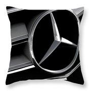 Mercedes Badge Throw Pillow by Douglas Pittman
