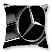 Mercedes Badge Throw Pillow