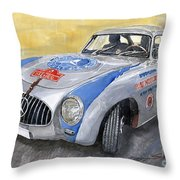 Mercedes Benz 300 Sl 1952 Carrera Panamericana Mexico  Throw Pillow by Yuriy  Shevchuk