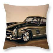Mercedes Benz 300 Sl 1954 Painting Throw Pillow