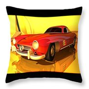 Mercedes-benz 300 Sl Red Throw Pillow