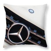 Mercedes-benz Emblem - Grille Logo -0030c Throw Pillow