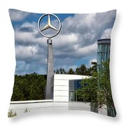 Mercedes - Benz Plant Throw Pillow