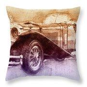 Mercedes-benz Ssk 2 - 1928 - Automotive Art - Car Posters Throw Pillow
