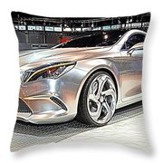 Mercedes Benz Style Coupe Concept Number 2 Throw Pillow