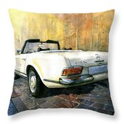 Mercedes Benz W113 280 Sl Pagoda Throw Pillow