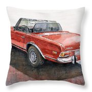 Mercedes Benz W113 Sl280 Throw Pillow