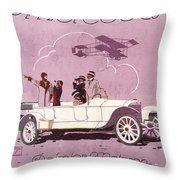 Mercedes Daimler C. 1910 Throw Pillow