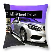 Mercedes E350 E Class 4matic No 1 Throw Pillow