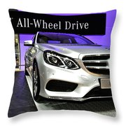Mercedes E350 E Class 4matic No 2 Throw Pillow