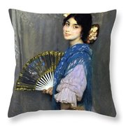 Mercedes Throw Pillow by Francis Luis Mora