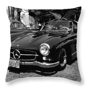 Mercedes Gull Wing Coupe Throw Pillow