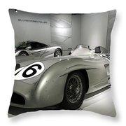 Mercedes Racer Throw Pillow