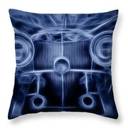 Mercedes Roadster Throw Pillow