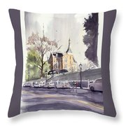 Mercer's Godsey Building Throw Pillow
