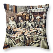 Merchants Paying Taxes Throw Pillow