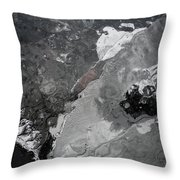 Mercurial Ice Abstract Throw Pillow