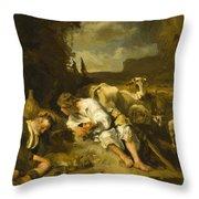 Mercury And Argus 1647 Throw Pillow