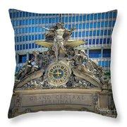Mercury At Grand Central Terminal Throw Pillow