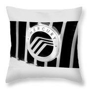 Mercury In Black And White Throw Pillow