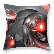 Mercury Rising Abstract Throw Pillow