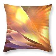 Mercury Sand Dunes Throw Pillow