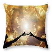 Mercy - Digital Art Throw Pillow