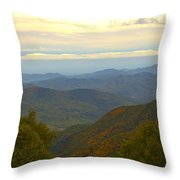 Mercy Me- A Fall View Of Craggy Gardens Nc Throw Pillow