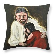 Mercy, No Sin To Great Throw Pillow by Clyde J Kell