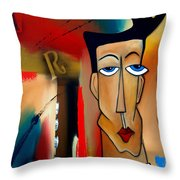 Merger - Abstract Art By Fidostudio Throw Pillow