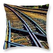 Merging Tracks Throw Pillow