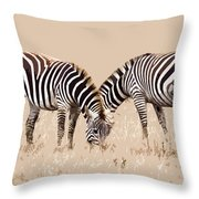 Merging Zebra Stripes Throw Pillow
