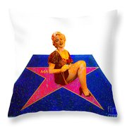 Merilyn Monroe Throw Pillow