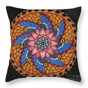 Merkaba Throw Pillow by Galina Bachmanova