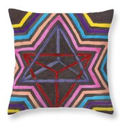 Merkaba Radiating Throw Pillow