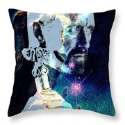 Merlin In The Cosmos Throw Pillow