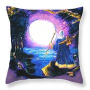 Merlin's Moon Throw Pillow